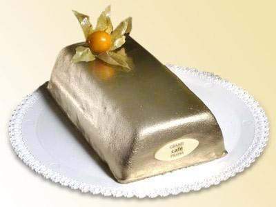 Dorty na svatbu - Slavnostní dorty - Zlatá cihlička