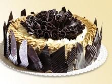 Kávový šlehačkový dort