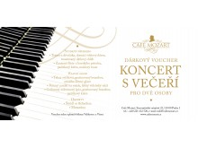 Voucher na koncert s večeří pro dva/Voucher for concert with dinner for two