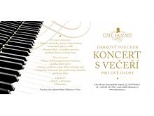 Voucher na koncert s večeří pro dva/Voucher for concert with dinner for two