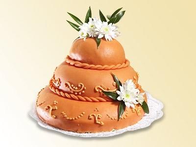 Dorty na svatbu - Slavnostní dorty - Mandlový dort