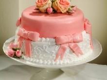 Svatební dort s mašlí II.