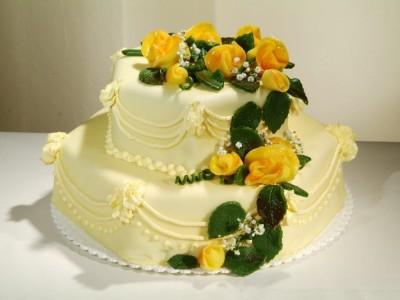 Svatební šestihran s růžemi