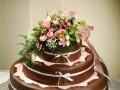 Čokoládovo-marcipánový dort