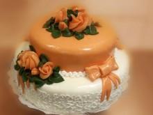 Svatební dort s mašlí I.